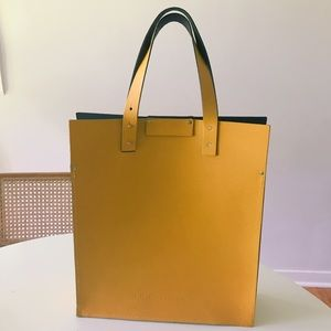The Leather Satchel Co Yellow Tote